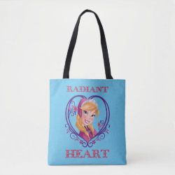 All-Over-Print Tote Bag, Medium with Anna of Disney's Frozen: Radiant Heart design