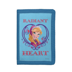 TriFold Nylon Wallet with Anna of Disney's Frozen: Radiant Heart design