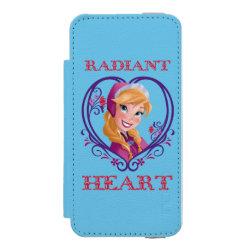 Incipio Watson™ iPhone 5/5s Wallet Case with Anna of Disney's Frozen: Radiant Heart design