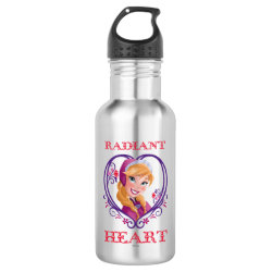 Water Bottle (24 oz) with Anna of Disney's Frozen: Radiant Heart design