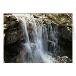Anna Ruby Falls Helen Georgia waterfall Card