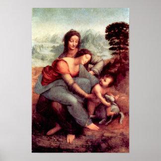 Anna Selbdritt 2 by Leonardo da Vinci Print