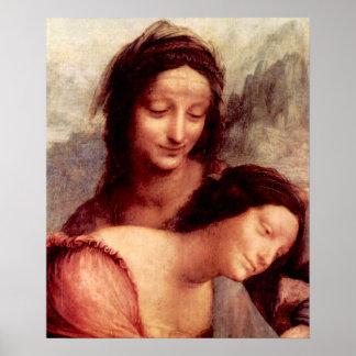 Anna Selbdritt 2 detail by Leonardo da Vinci Print