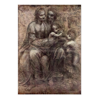 Anna Selbdritt by Leonardo da Vinci Print