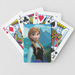 Playing Cards with Disney's Frozen Anna design