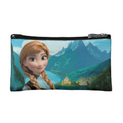 Small Cosmetic Bag with Disney's Frozen Anna design