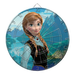 Megal Cage Dart Board with Disney's Frozen Anna design