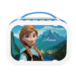 Blue yubo Lunch Box with Disney's Frozen Anna design