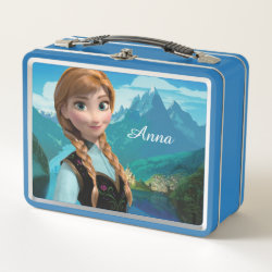 Metal Lunch Box with Disney's Frozen Anna design