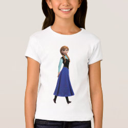 Girls' Bella+Canvas Fitted Babydoll T-Shirt with Disney's Frozen Anna design