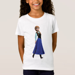 Girls' Fine Jersey T-Shirt with Disney's Frozen Anna design