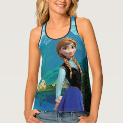 Women's All-Over Print Racerback Tank Top with Disney's Frozen Anna design