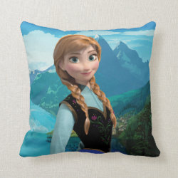 Cotton Throw Pillow with Disney's Frozen Anna design