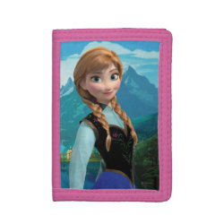 TriFold Nylon Wallet with Disney's Frozen Anna design