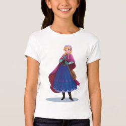 Girls' Bella+Canvas Fitted Babydoll T-Shirt with Anna's Frozen Adventure design