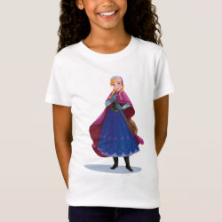Girls' Fine Jersey T-Shirt with Anna's Frozen Adventure design