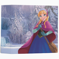 Avery Signature 1' Binder with Anna's Frozen Adventure design