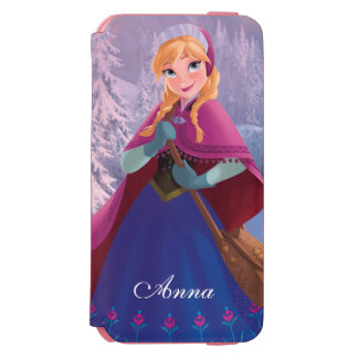 Anna | Standing with Winter Dress iPhone 6/6s Wallet Case