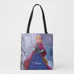 All-Over-Print Tote Bag with Anna's Frozen Adventure design