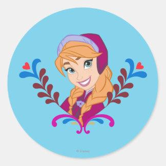 Anna - Strong Heart Classic Round Sticker