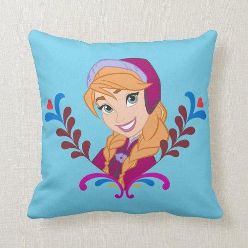 Anna - Strong Heart Throw Pillows