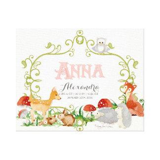 Anna Top 100 Baby Names Girls Newborn Nursery Stretched Canvas Prints