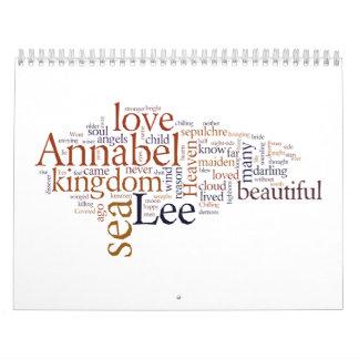 Annabel Lee Calendar