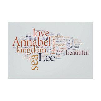 Annabel Lee Impresiones En Lona Estiradas