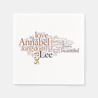 Annabel Lee Paper Napkin
