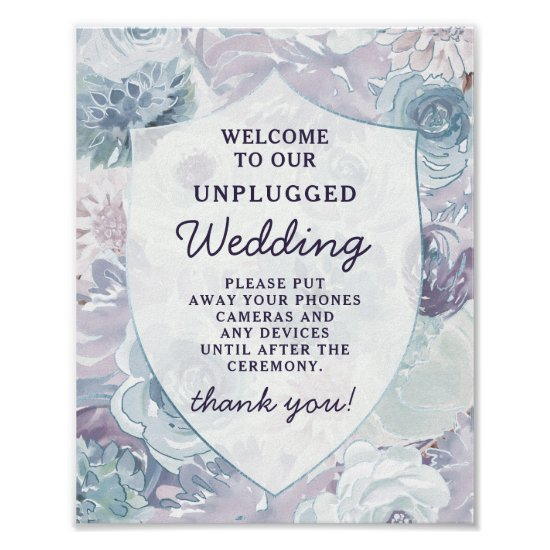 Annabelle Chic Crest Unplugged Wedding Table Sign