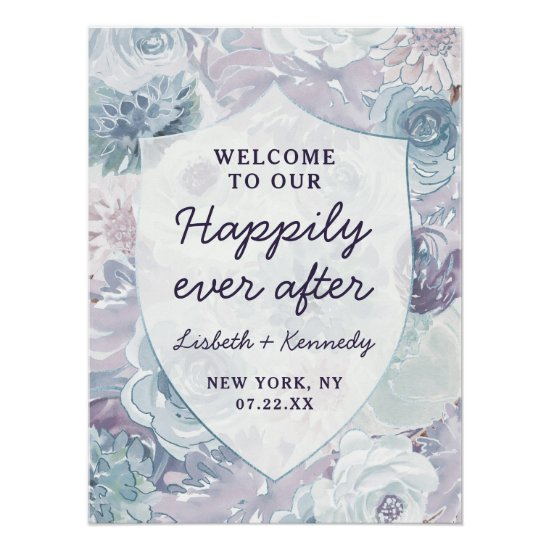 Annabelle Crest Happily Ever After Reception Sign