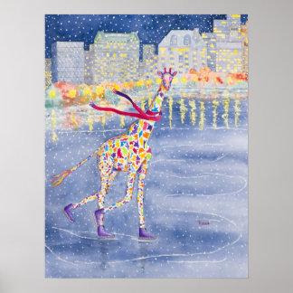 Annabelle en el poster del hielo