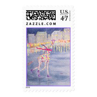 Annabelle en franqueo a juego de la frontera del sello postal