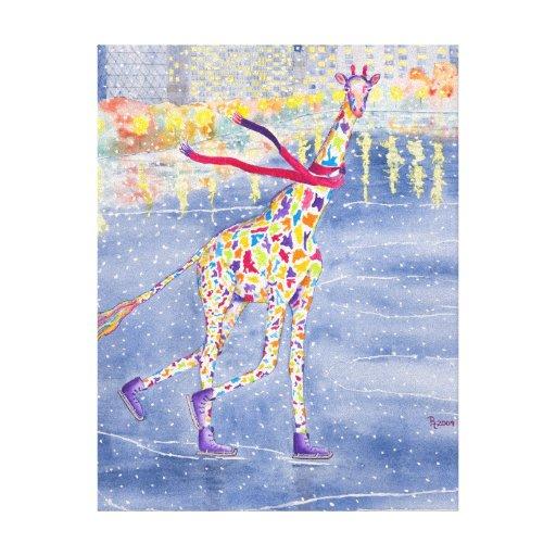 Annabelle en lona envuelta hielo impresión en tela