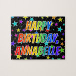 "[ Thumbnail: ""Annabelle"" First Name, Fun ""Happy Birthday"" Jigsaw Puzzle ]"