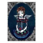 """Annabelle"" Gothic Victorian Angel Art Card"