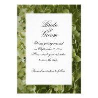 Annabelle Hydrangea Save the Date Announcement
