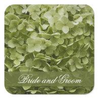Annabelle Hydrangea Wedding Envelope Seals Square Stickers