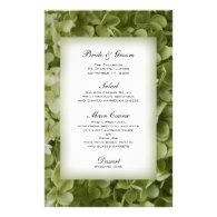 Annabelle Hydrangea Wedding Menu Custom Stationery