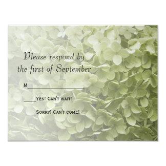 Annabelle Hydrangea Wedding RSVP Response Card Invites