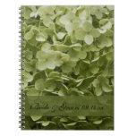 Annabelle Hydrangea Wedding Spiral Notebook