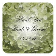 Annabelle Hydrangea Wedding Thank You Stickers