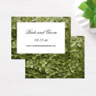 Annabelle Hydrangea Wedding Website Card