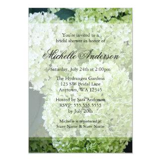 Annabelle Hydrangeas Bridal Shower Card