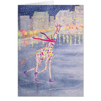 Annabelle on Ice Blank Card