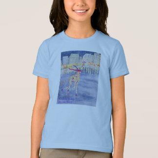 Annabelle on Ice Girl's Ringer T-Shirt
