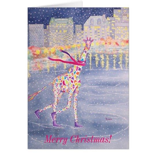 Annabelle on Ice Merry Christmas Card