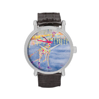 Annabelle on Ice Vintage Leather Strap Watch