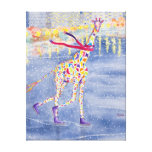 Annabelle on Ice Wrapped Canvas Stretched Canvas Prints