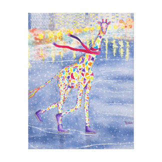Annabelle on Ice Wrapped Canvas Canvas Print
